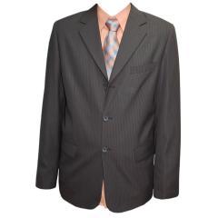 festlicher Anzug Jungen Jacke und Hose gestreift, braun