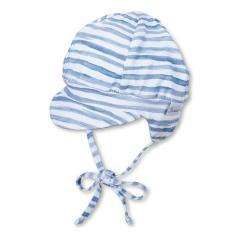 Jungen Baby Schirmmütze, Ballonmütze zum Binden, UV-Schutz 50+, blau -  1601913