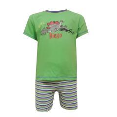 Diego - Kurzer Schlafanzug Baby Jungs, grün