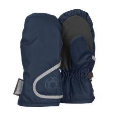 """Jungen Fäustlinge Handschuhe wasserdicht mit reflektierendem Klettverschluss  und verstärkten Handflächen einfarbig """"Schneeflocke"""", marine - 4321802"""