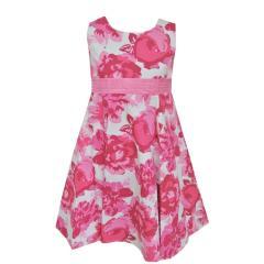 Festkleid Mädchenkleid Kleid, weiß-pink
