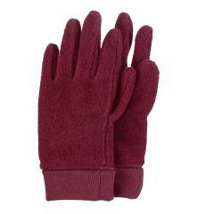 Mädchen Handschuhe Fingerhandschuhe Microfleece, dunkelrot mel. – 4331410