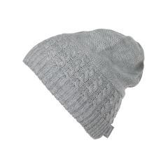 Mädchen Mütze Wintermütze Strick gefüttert, grau - 4721850