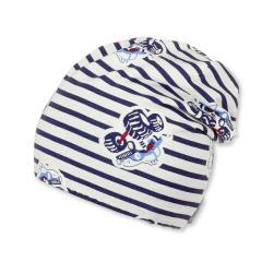 Jungs Beanie Wendemütze mit Streifen gemustert, blau weiß-1611766