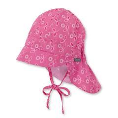 Mädchen Sommerhut zum Binden Blumen mit Glitzer, pink - 1411825, Größe 53 53 | pink |