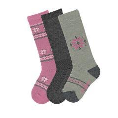 Mädchen Kniestrümpfe Blumen 3er Pack Socken gestreift, rosa - 8451821-perlr
