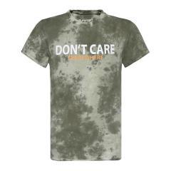 """Jungen T-Shirt Sommershirt kurzarm """"Don´t care everywhere"""" , grün -2211-6117"""