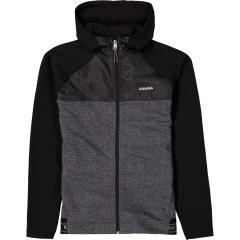 Jungen Jacke mit Kapuze, Jackentaschen, Reißverschluss und Gummibund, schwarz - G13464