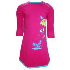 Langarm Mädchen Nachthemd, pink