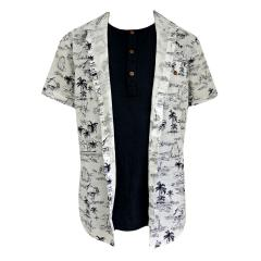 Jungen Hemd kurzarm Karibik, blau-weiß - 6133