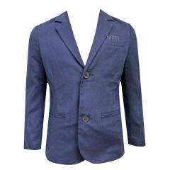 Jungen Blazer festliche Jacke Anzugsjacke, blau - 3417b