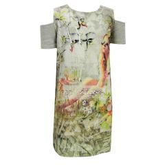 Mädchen Kleid kurzarm Frühlingskleid Tunika, braun - 6961