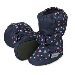 Baby Schuhe Mädchen wasserabweisend Herzen, marine - 5101711