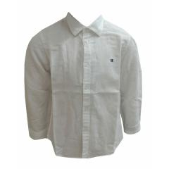 Jungen Hemd langarm Leinenhemd, weiß