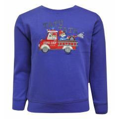 Baby Jungen Langarmshirt Shirt Sweater Feuerwehr, blau - 65211120