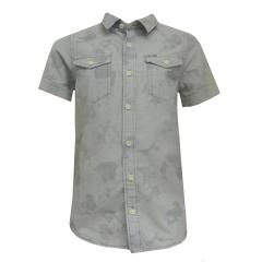 Kurzarm Hemd Jungen gemustert, blau