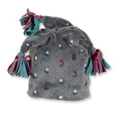 Kids Mädchen Wintermütze Mütze mit Zipfel, Grau- 4411610