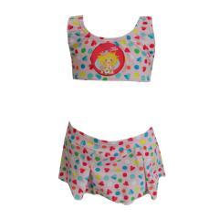 Bustier-Bikini Zweiteiler Mädchen Herzen-Musterung Prinzessin Lillifee, rosa