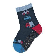 "Jungen Anti-Rutsch-Socken Fliesen Flitzer Sun ""Autos"", marineblau - 8022000"