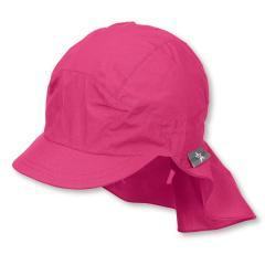 Mädchen Schirmmütze mit Nackenschutz, Sommermütze, pink - 1531430