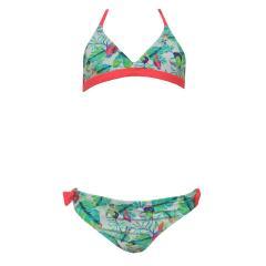 Bikini Mädchen Zweiteiler Tropical, grün - 156016