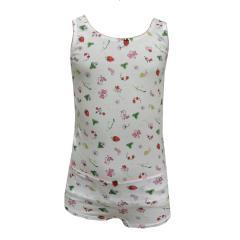 Mädchen Unterwäscheset Slip und Unterhemd gemustert, weiß