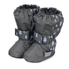 Baby Schuhe Jungen wasserabweisend, Raumschiff, grau - 5101710