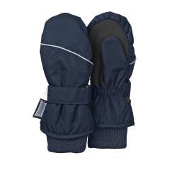 Jungen Fäustlinge Fausthandschuh Thermo-Handschuh mit reflektierendem Strich und Klettverschluss einfarbig, marine - 4321800