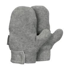 Jungen Fäustlinge Handschuhe Fleece mit Klettverschluss, silber mel. - 4301420