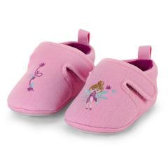 """Mädchen Kinder Baby Schuhe Krabbelschuhe mit Klettverschluss und rutschfester Sohle für innen und außen """"Fee"""", rosa – 2302064"""