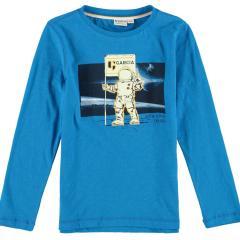 Jungen T-shirt Langarmshirt Astronaut, blau - T05601