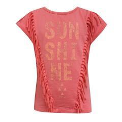 Mädchen T-Shirt Kurzarmshirt Sunshine, coral - RJG-71-253