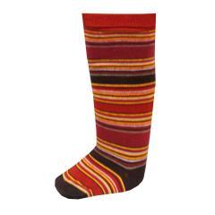 Mädchen Kniestrümpfe Socken geringelt, rot