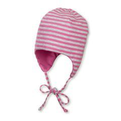 Mädchen Sommermütze zum Wenden, Erstlingsmütze zum Binden, UV-Schutz 50+, rosa - 1501832