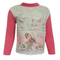 Baby Mädchen T-Shirt lang, rosa