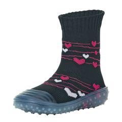 "Mädchen Anti-Rutsch-Socken Adventure-Socks Socken-Schuh-Kombination ""Herzen"", marineblau - 8362002"