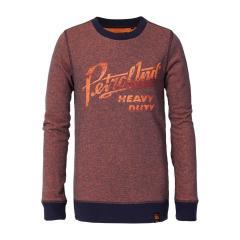 Jungen Pullover Sweater Sweatshirt Langarmshirt Petrol Ind., orange - B-3090-SWR303o