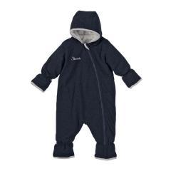 Baby Jungen Overall Fleece mit Reißverschluss und kuschlig weichem Futter , stahlblau - 5501880