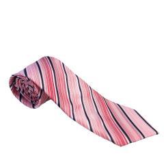 Jungen Schlips Krawatte festlich zum binden gestreift, rosa - 9954200rosa