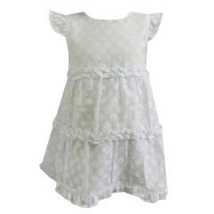 festliches Baby Mädchen Kleid Bodykleid gepunktet, weiß - 73220285