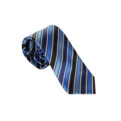 Jungen Schlips Krawatte zum binden gestreift und kariert-9970100-Blau