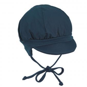 Baby Jungen Ballonmütze zum Binden UVS 50, marine - 1502020