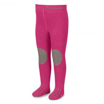 Baby Mädchen Strumpfhose Krabbelstrumpfhose einfarbig mit abgesetztem Knie, magenta - 8751610