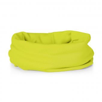 Mädchen Baby Allrounder Halstuch Schal Loop Stirnband Microfleece einfarbig neon, gelb - 4521950