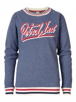 Mädchen Sweater Shirt mit langen Ärmeln und Sportkragen, blau - G-FW18-SWR-114