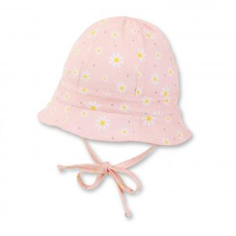 Baby Mädchen Fischerhut zum binden Gänseblümchen, rosa - 1401819