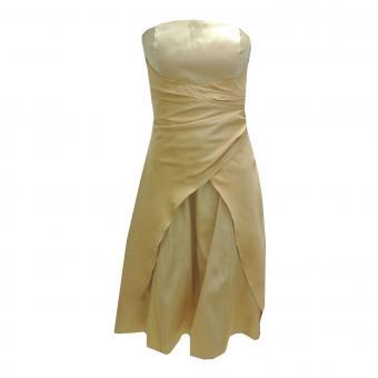 Festkleid für Mädchen mit Stola und zum Binden, gold