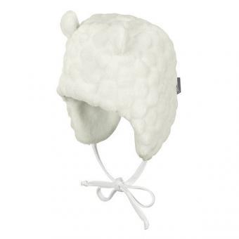 Mädchen Mütze zum Binden Wintermütze Fleece Bärenohren, natur - 4401822-ecru