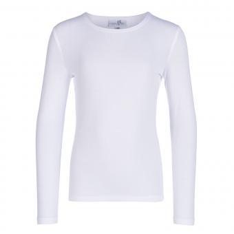 Eisend Mädchen Langarm-t-shirt Unterziehshirt, weiß - 344910w