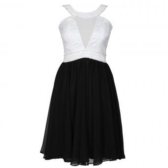 Festliches Chiffon-Kleid mit Stola Mädchen, weiss - 1374900